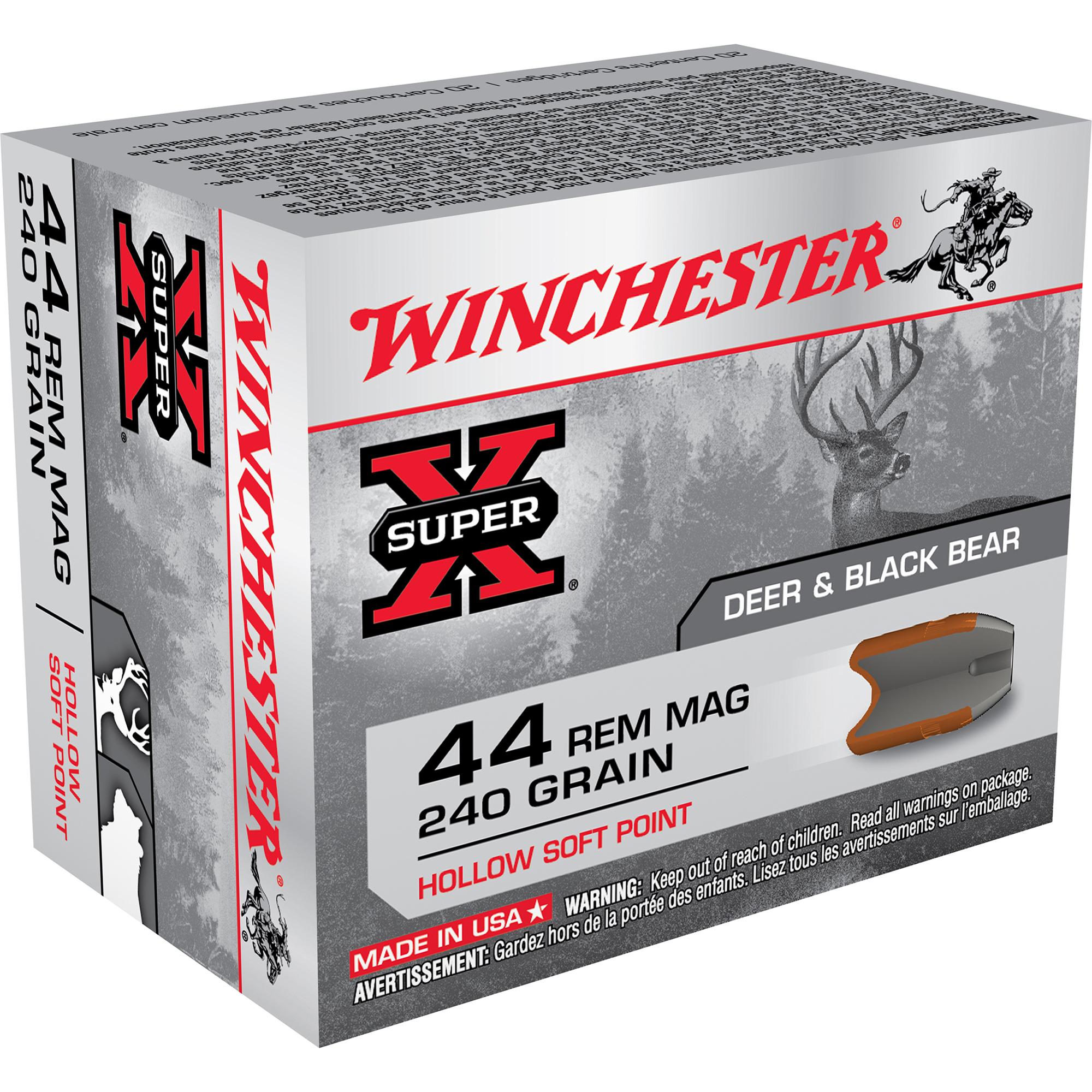 Winchester Super-X Handgun Ammo, .44 Rem Mag, 240-gr, HSP