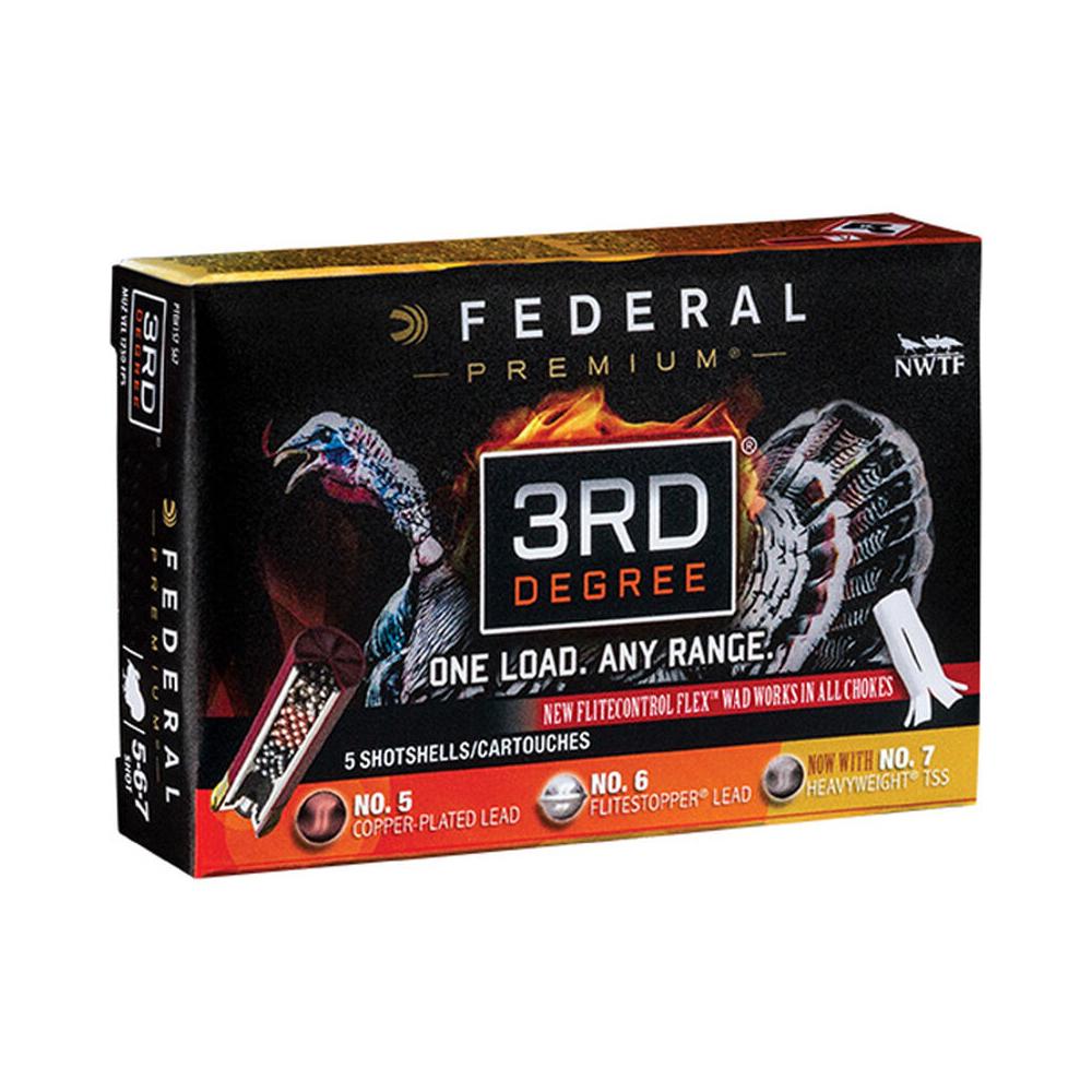 Federal Premium 3rd Degree Shotshells, 12-ga, 3-1/2″, 2 oz, 1250 fps