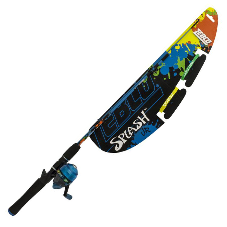 Zebco Splash Kid's Spincast Combo, Blue
