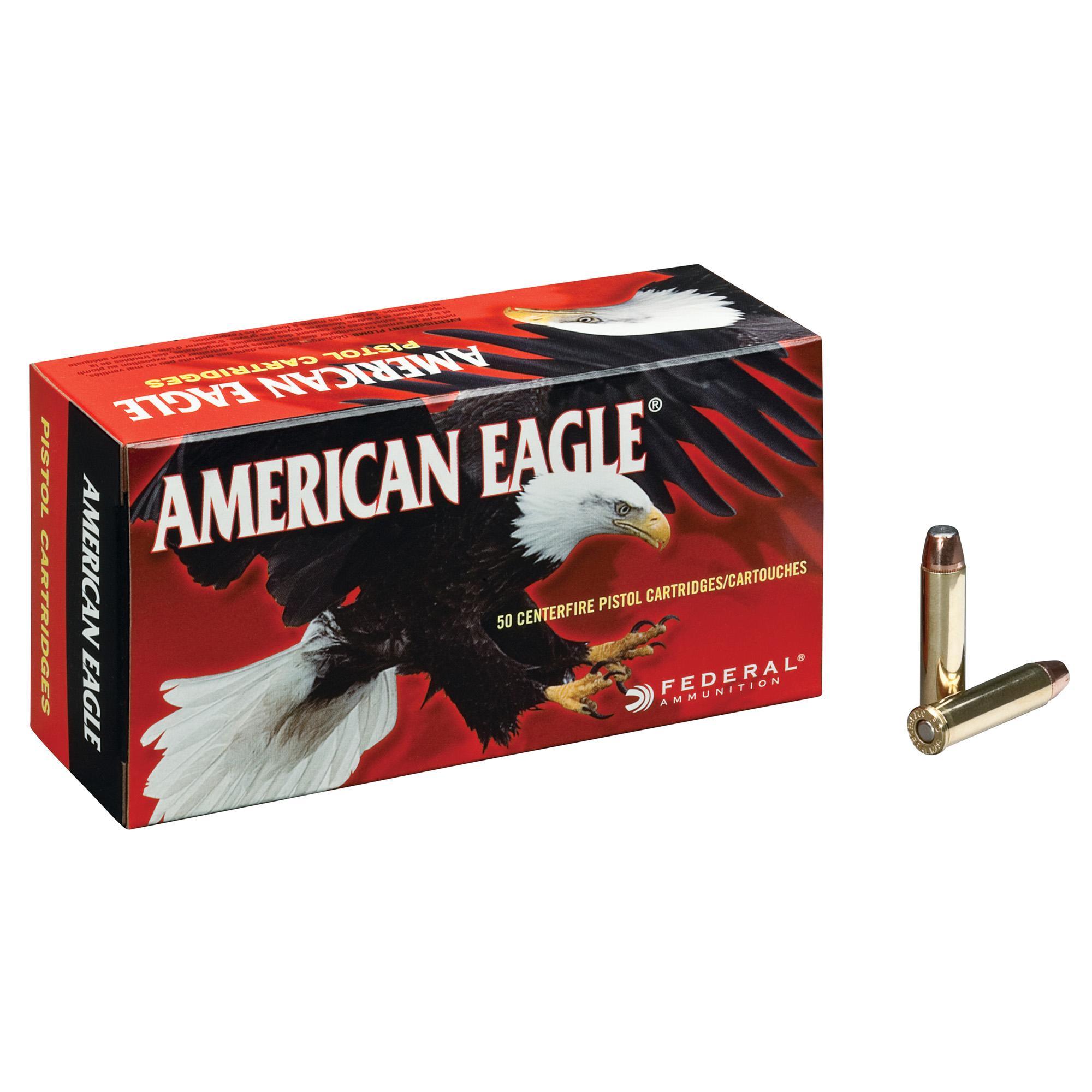 American Eagle Handgun Ammo, .44 Rem Mag, 240-gr, JHP