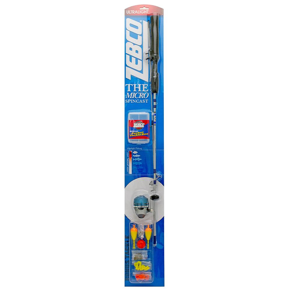 Zebco Micro Spincast Combo, 4'6″, Ultra-Light