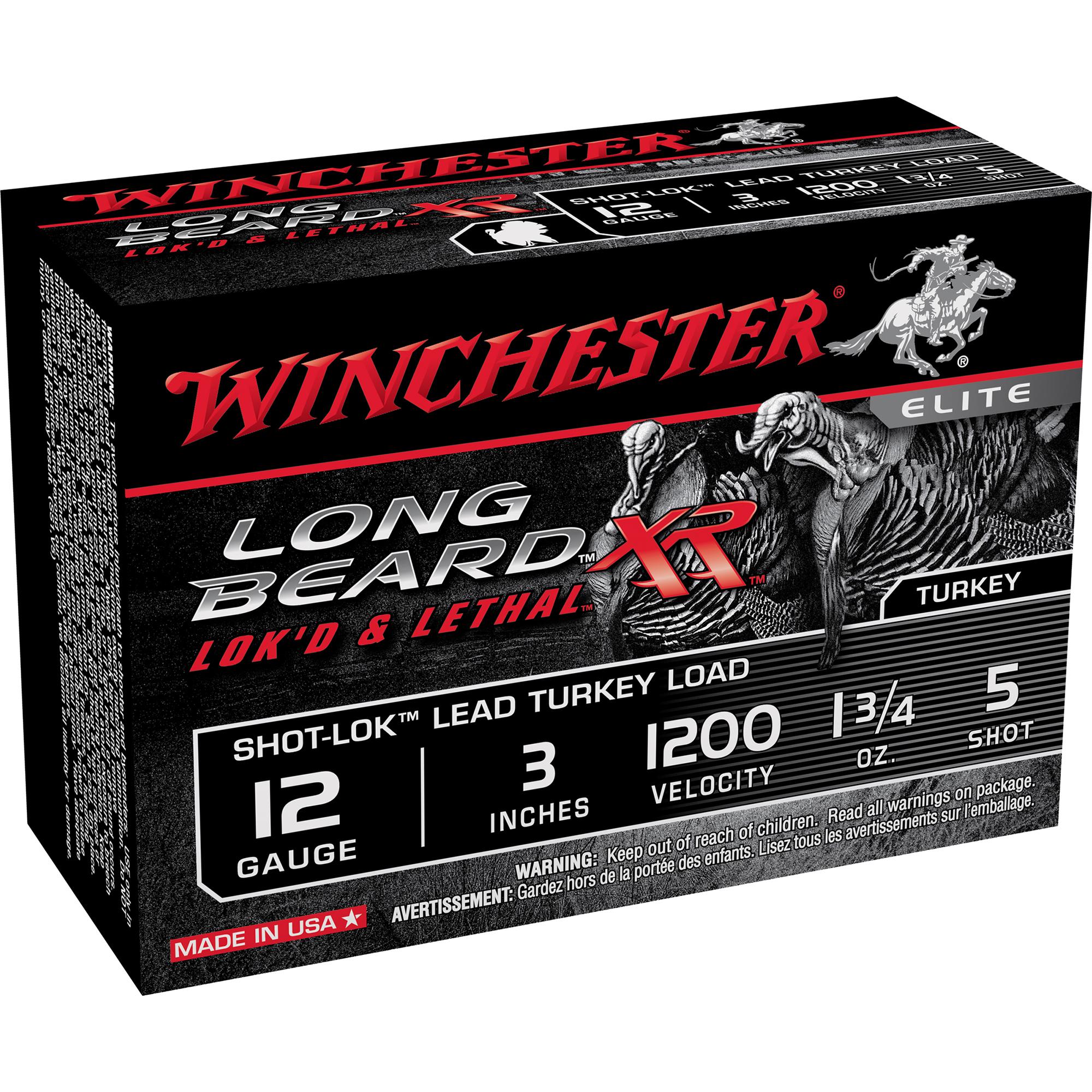 Winchester Long Beard XR Turkey Loads, 12-ga, 3″, 1-3/4 oz, #5