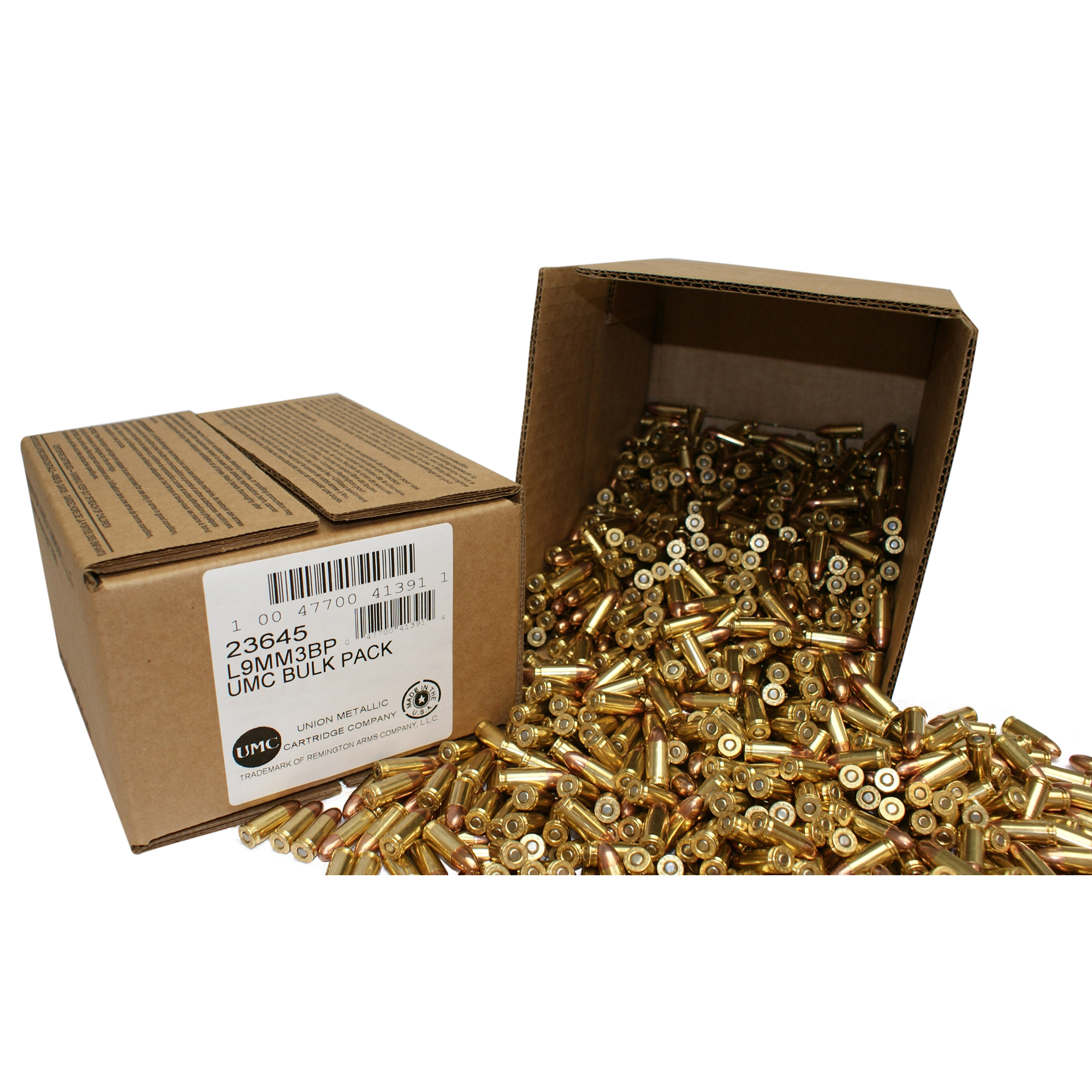 Remington UMC Handgun Ammo Bulk Box, .45 ACP, 230-gr, MC, 500 Rounds