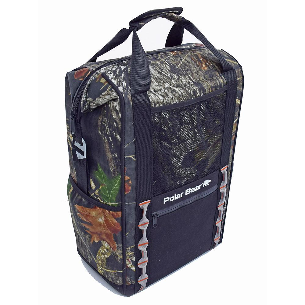Polar Bear Tracker Backpack Cooler, Mossy Oak