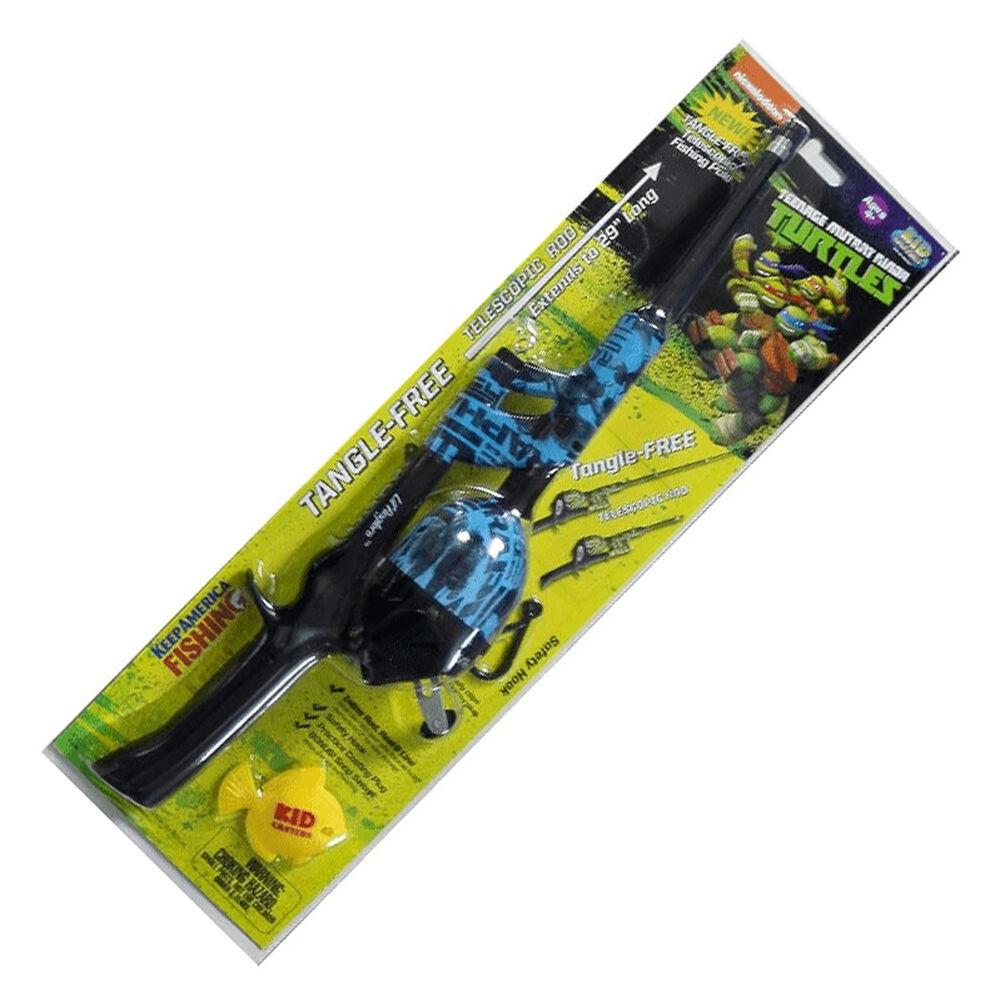 Kid Casters TMNT Telescopic No-Tangle Spincast Combo Kit thumbnail