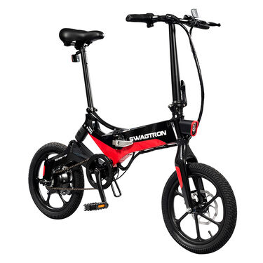 Swagtron EB-7 E-Bike, Black and Red