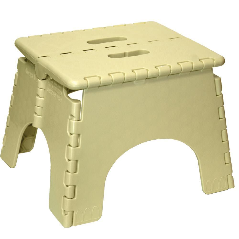 Ez Foldz 9 Quot Folding Step Stool Beige Gander Outdoors