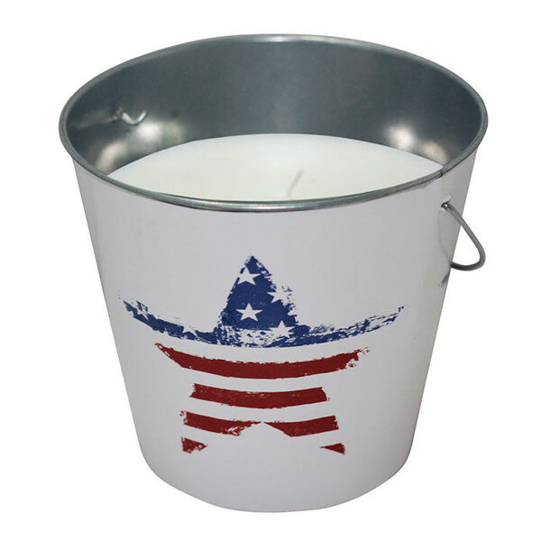 Citronella Candle With USA Flag Design