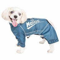 Dog Helios ® 'Hurricanine' Waterproof And Reflective Full Body Dog Coat Jacket W/ Heat Reflective Technology, Blue X-Small