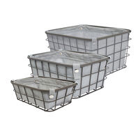 Home Expressions Set of 3 Wire Storage Baskets with Liners, Gray