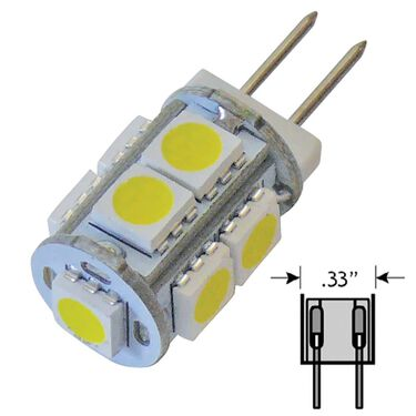 6 pack of LED bulbs for all G4-JC10 applications