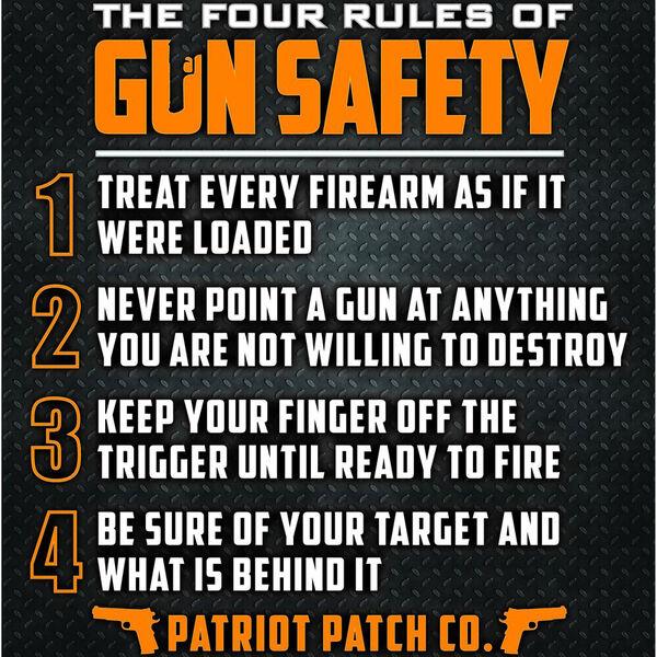 Patriot Gun Safety Sticker