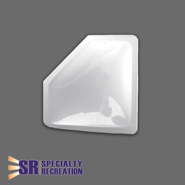 """Neo Angle Inner Garnish Skylight, White 26"""" x 10"""""""