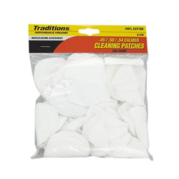 Traditions Firearms EZ Clean 2 Cleaning Patches, 200-Pack