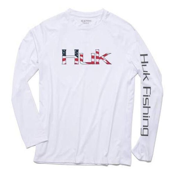 HUK Men's American Pitch Pursuit Long-Sleeve Tee