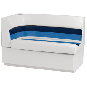 Toonmate Deluxe Pontoon Right-Side Corner Couch - TOP ONLY - White/Navy/Blue