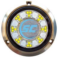 Shadow-Caster Single-Color Bronze Underwater Light – 24 LEDs, Bimini Blue