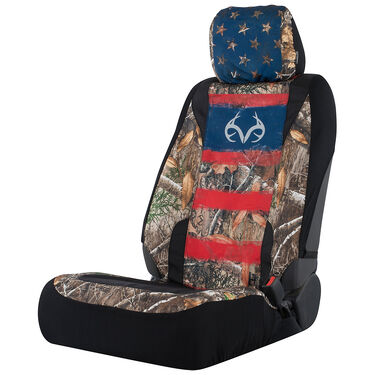 Realtree Americana Low-Back Seat Cover, Edge Camo