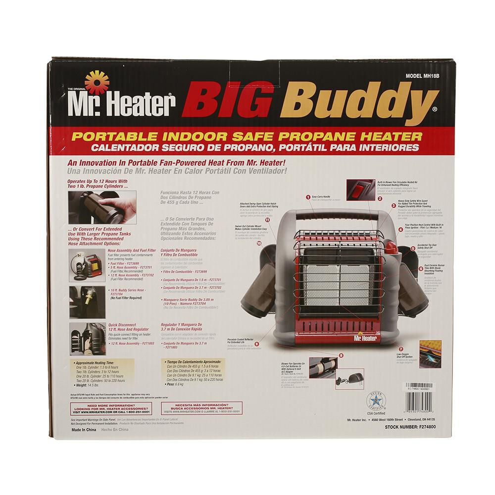 Mr Heater Big Buddy Portable Indoor Propane Heater