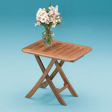 Whitecap Teak Teak Small Adjustable Slat Top Table