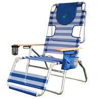 Ostrich Altitude 3N1 Beach Chair, Blue/White