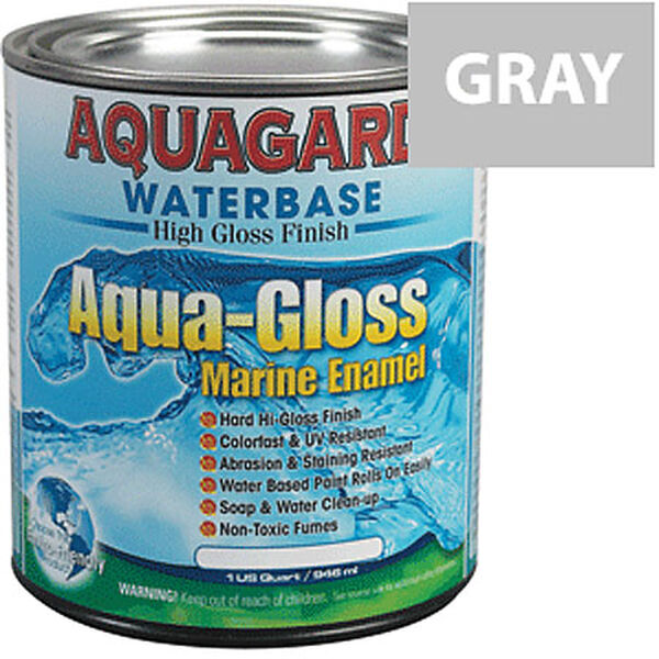 Aquagard Aqua-Gloss Waterbase Enamel, Quart, Medium Gray