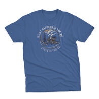 The Stacks Men's What Happens Short-Sleeve Tee