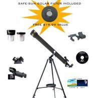 Galileo SmartScope Astro/Terrestrial Refractor Telescope with Smartphone Photo Adapter, 700x60mm