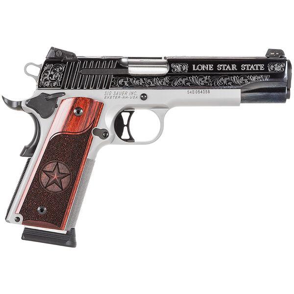 SIG Sauer 1911 Texas Engraved Silver Handgun