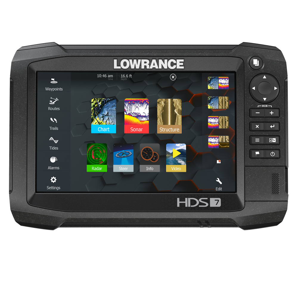Lowrance HDS-7 Carbon Fishfinder Chartplotter w/TotalScan Transducer