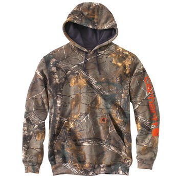 1d1c04cd1 Carhartt Men's Midweight Camo Sleeve Logo Hooded Sweatshirt | Gander ...