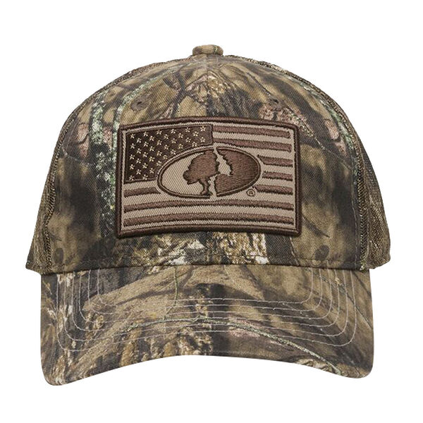 Outdoor Cap Men's Mossy Oak Flag Logo Mesh-Back Camo Cap