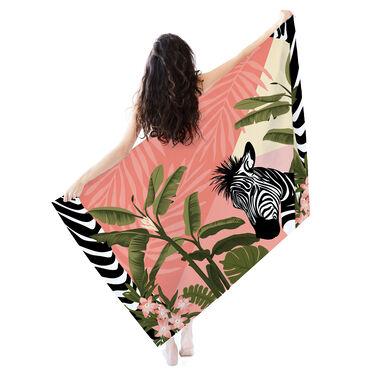 Printed Village Beach Towel