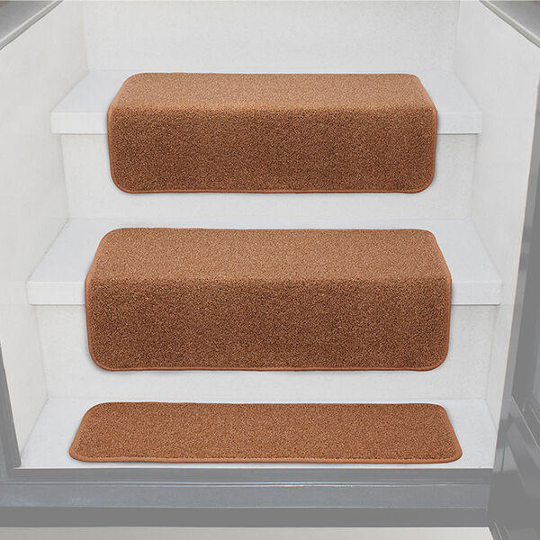 "Prest-O-Fit Decorian 10"" x 23.5"" Step Hugger for RV Landings, Buckskin Brown, Each"