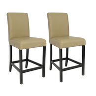 "Kathy Ireland Furniture 25"" Bar Stools, Taupe, pair"