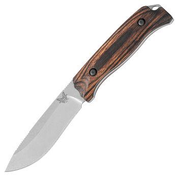 Benchmade 15001 Saddle Mountain Skinning Knife, Dymondwood, Leather Sheath