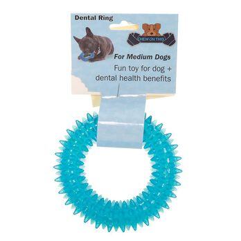 Pet Dental Ring, Medium, Blue