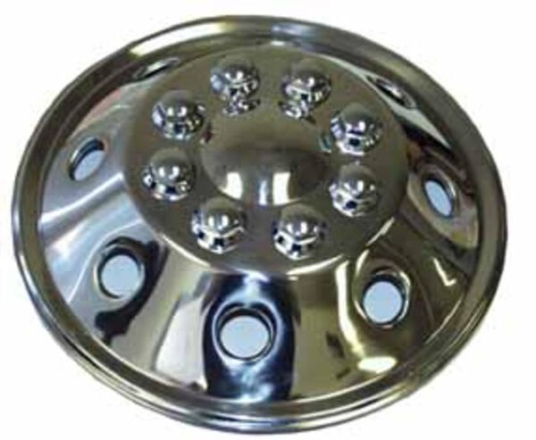 """Namsco Stainless Steel Wheel Cover, Single - 19.5"""" All Styles (Front)"""