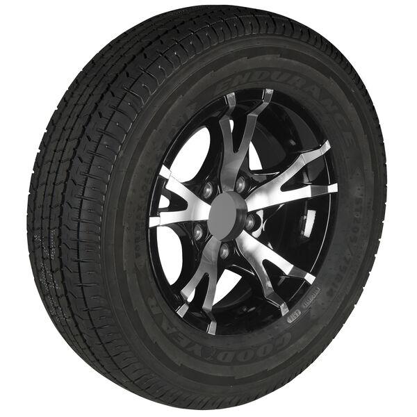 Goodyear Endurance ST215/75 R 14 Radial Trailer Tire, 5-Lug Aluminum T07 Black R