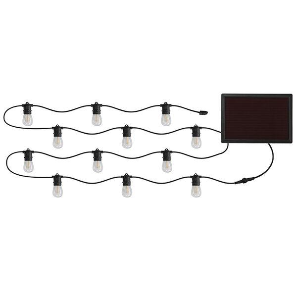 30 Ft, 12 Socket Solar Powered LED String Lights