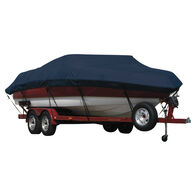 Exact Fit Covermate Sunbrella Boat Cover for Trophy 1952 Wa 1952 Wa W/Strb Ladder And 24-Inch Bow Rails W/Bimini Top Laid Forward Over Ws I/O. Navy