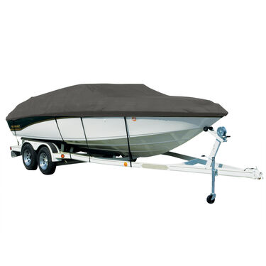 Covermate Sharkskin Plus Exact-Fit Cover for Princecraft Sport Fisher 24  Sport Fisher 24 Seats & Bimini Aft Laid Down O/B