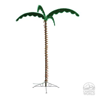 Green Long Life Decorative 7' LED Rope Light Palm Tree