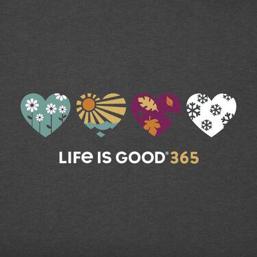 Life Is Good Women's 365 Hearts Crusher T-Shirt