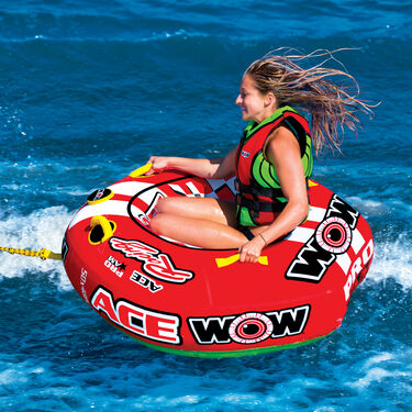 WOW Ace Racing 1-Person Towable Tube
