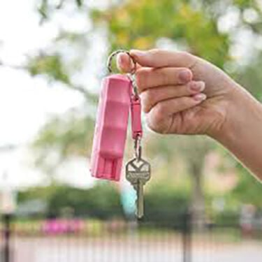 Sabre Key Case Pepper Spray (Pink)