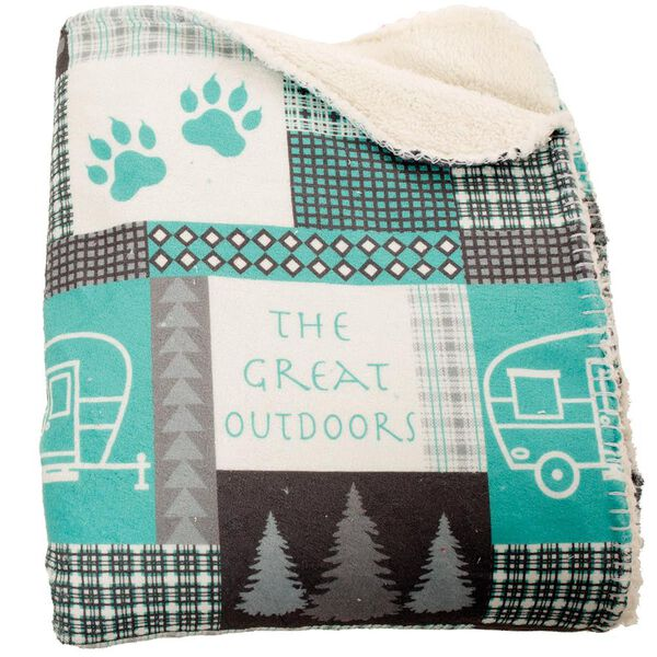 Great Outdoors Throw, Turquoise