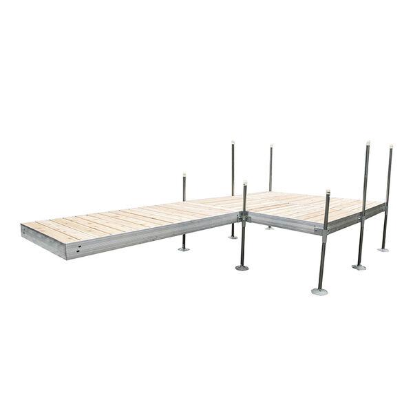 Tommy Docks 16' Platform-Style Aluminum Frame With Cedar Decking Complete Dock Package