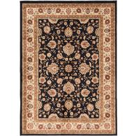 Elegance Collection Rug, 5' x 7', Black