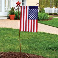 Applique USA Garden Flag